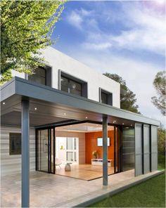 Plus qu'une véranda, EXTENS'K® est un concept unique d'extension maison avec pergola bioclimatique intégrée.