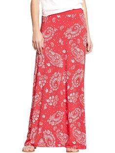 Women's Jersey Maxi Skirts Product Image