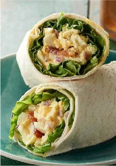 """Egg Salad """"BLT"""" Wraps – These egg salad wraps have everything you love in a BLT, only we've swapped out the tomato in favor of crunchy red onions."""