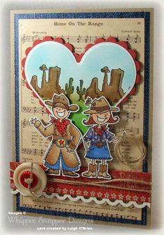 By Leigh o'Brien  using Cowgirl Up and Singing Cowboy     WhipperSnapperDesigns.com