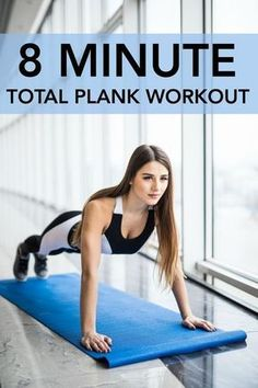 The Best Total Plank Workout – 8 minutes of plank work for toned abs and a strong core. Fitness Workouts, Sport Fitness, Yoga Fitness, At Home Workouts, Health Fitness, Mental Training, Strength Training, Plank Workout, Fat Workout