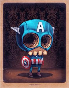 Not sure I like this actually... Mike Mitchell :D Death Captain America Swag