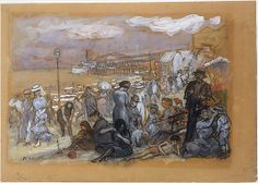 William James Glackens (American, 1870–1938). Afternoon at Coney Island, ca. 1907–09. The Metropolitan Museum of Art, New York. Gift of A. E. Gallatin, 1915 (15.152.1).