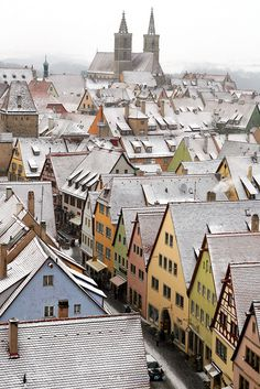 The houses of Rothenburg-ob-der-Tauber, #Bavaria, #Germany