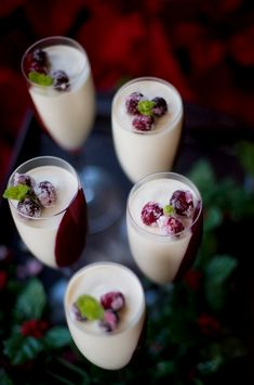 Want a Quick, Easy, Elegant Dessert -This no fail cranberry panna cotta recipe is an Italian dessert that you can make at least two days ahead. Elegant Desserts, Italian Desserts, Panna Cotta, Make Ahead Desserts, Dessert In A Jar, Berries, Dessert Recipes, Dinner, Ethnic Recipes