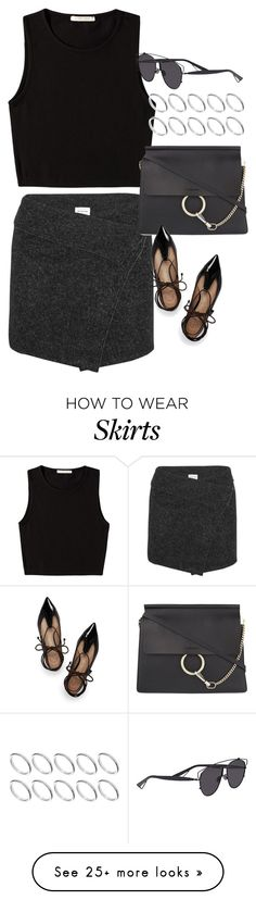 """""""Inspired outfit with a wrap skirt"""" by pagesbyhayley on Polyvore featuring Étoile Isabel Marant, Pieces, Chloé, ASOS, Tory Burch and Christian Dior"""