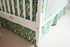 just bella: DIY: Crib Skirt & Mini Quilt