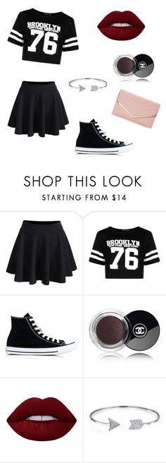 """Night life"" by cpbubbles101 ❤ liked on Polyvore featuring WithChic, Boohoo, Converse, Chanel, Lime Crime, Bling Jewelry and Sasha"