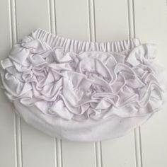 Jessica Soft Cotton Classic Ruffle Bloomer - White