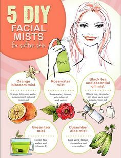 5 DIY Facial Mists for Softer Skin