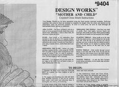 schema punto croce mamma con il bambino   Hobby lavori femminili - ricamo - uncinetto - maglia