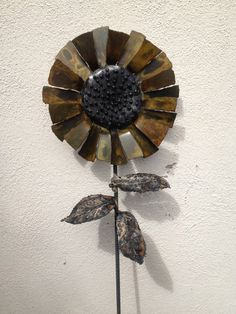 Metal sunflower by MartisMetalCreations on Etsy