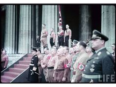 Hugo Sperrle, Rudolf Heß, Alfred Rosenberg, Adolf Hitler, Julius Streicher, Hermann Göring.