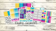 Electric Geometric planner stickers