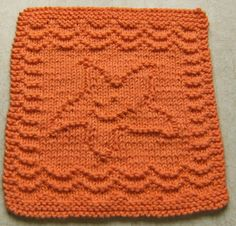 Free Knitting Pattern - Dishcloths & Washcloths : Baby Starfish Cloth