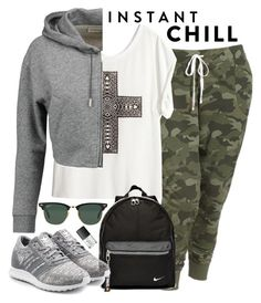 """""""Instant Chill"""" by anda-cazacu ❤ liked on Polyvore featuring Old Navy, H&M, NIKE, Golden Goose, adidas Originals, Ray-Ban, NARS Cosmetics, shadesofyou and plus size clothing"""