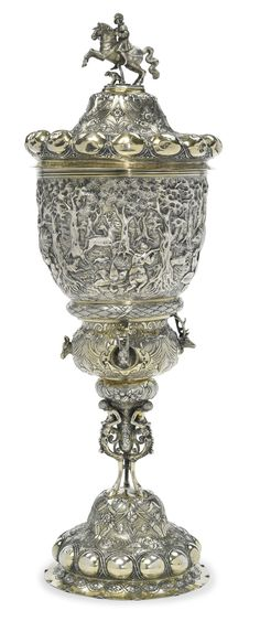 A German Silver-gilt Large Standing Cup and Cover, probably Hanau, late 19th century | lot | Sotheby's