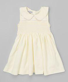 Yellow Peter Pan Collar Smocked Dress - Infant & Girls
