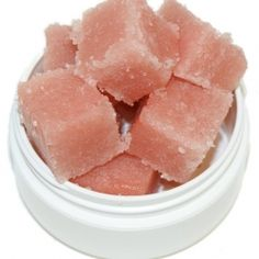 Solid sugar scrub cubes are the new trend in bath and body products. Follow this easy recipe to make your own!