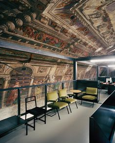 Massimiliano Locatelli was searching for a home for his Milan-based architecture firm CLS Architetti when he came upon a glorious Century church. Church Conversions, Urban Fabric, Urban Setting, Office Interiors, 16th Century, Interiores Design, Fresco, Decoration, Interior Architecture