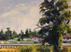 "Daily Paintworks - ""Walkway by Snookys"" - Original Fine Art for Sale - © Debbie Yacenda"