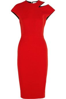 Victoria Beckham Cutout silk and wool-blend crepe dress | NET-A-PORTER