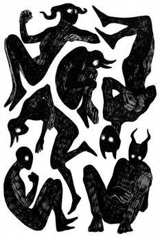 New drawing sketches demon Ideas Daniel Machauer Demon Drawings, Dark Art Drawings, Drawing Sketches, Drawing Poses, Drawing Ideas, Drawing Drawing, Arte Obscura, Demon Art, Creepy Art