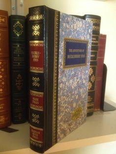 The Adventures Of Huckleberry Finn Mark Twain Quarter Leather Blue Red Gilt Gold