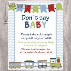 Baby Shower Clothes Pin Game Awesome Don't Say Baby Sign Baby Shower Game Printable Winter Snowflake Decorating Design