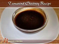 Tamarind Chutney Recipe by Manjula, Indian Vegetarian Food... I'm becoming addicted to tamarind!