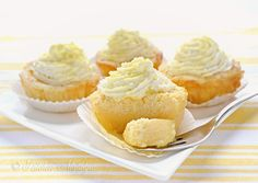 """Kitchen Nostalgia:  Lemon Magic Cake Cupcakes (Make a cake or cupcakes) (""""The magic is in the fact that you make only o ne batter &, after baking, you get a cake with 3 distict layers:  dense one on the bottom, custard-like layer in the middle, & a sponge layer on top."""")"""