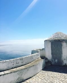 This place looks so peaceful tgat you couldn't imagine that just around the corner you can see the vawes up to 30 and more meters. // Nazaré, Portugal