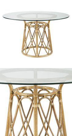 The Kabara Dining Table is simply perfect. A woody crosshatch pattern plays off of that crisp glass table top, creating a classy take on tropical. Pull up some rattan dining chairs—it's time to get tho...  Find the Kabara Dining Table, as seen in the Bohemian Outdoor Living Boutique Collection at http://dotandbo.com/collections/bohemian-outdoor-living-boutique?utm_source=pinterest&utm_medium=organic&db_sku=118599