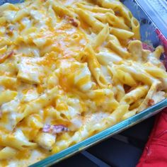 . Chicken Bacon Ranch Pasta Bake Recipe from Grandmothers Kitchen.