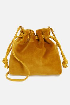 Main Image - Clare V. Yellow Purses, Yellow Handbag, Yellow Shoulder Bags, Givenchy, Vintage Purses, Vintage Hats, Drawstring Pouch, Purses And Bags, Velvet