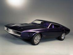 Mustang Milano Concept Transport Auto Concept Purple Old Retro