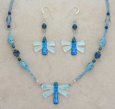 Fused Glass Dragonfly Jewelry