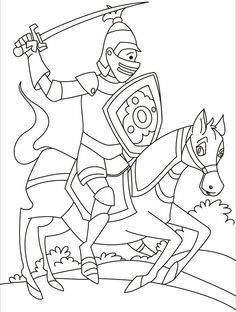 knights with his horse that ran