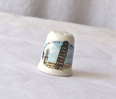 Vintage Leaning Tower Of Pisa Porcelain Thimble by CynthiasAttic