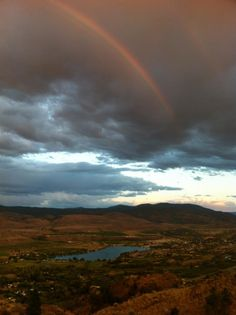 Double rainbow over Tuc El Nuit Lake after the storm by Linda Sheehy-Brownstein