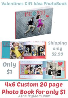 Valentines day gift idea, photo book makes a geat gift idea only 1 dollar
