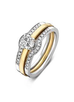 Solitair gouden ring