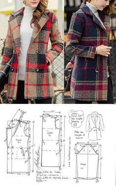 Sewing Patterns - Coat Patterns - Jacket Patterns - Bolero Pattern - Skirt Patterns - Blazer Pattern - Sewing Tutorials - Sewing E-book Coat Pattern Sewing, Blazer Pattern, Sewing Coat, Coat Patterns, Dress Sewing Patterns, Jacket Pattern, Sewing Clothes, Clothing Patterns, Diy Clothes