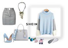 """""""SHEIN"""" by makeup-queen-anna ❤ liked on Polyvore featuring Viktoria Hayman, Prada, Alexander Wang, Steve Madden, Lancôme and Clé de Peau Beauté"""
