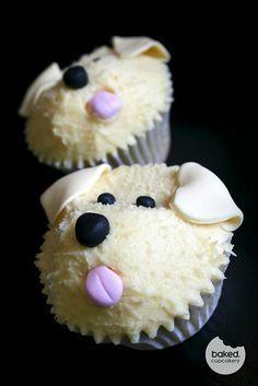 White Dog Cupcake