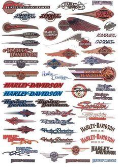 Black Red Harley Davidson Decal Harley Davidson Tank Logo - Harley davidson custom vinyl stickers