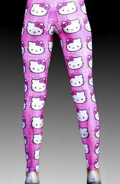 What is going on here? Puuuulease  Women's Hello Kitty Leggings
