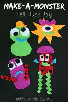 Monster Busy Bag Felt Craft for Kids