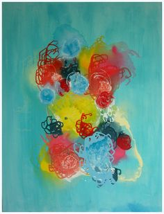 Abstract Painting Original Contemporary Fluid by MhariArtStudio