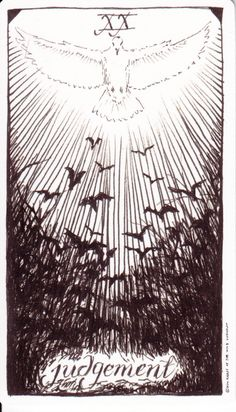 Judgment card from The Wild Unknown tarot deck.  What a beautiful visual interpretation of this amazingly spiritual card.